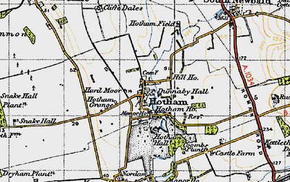Old map of Hotham in 1947