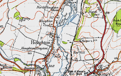 Old map of Houghton in 1945