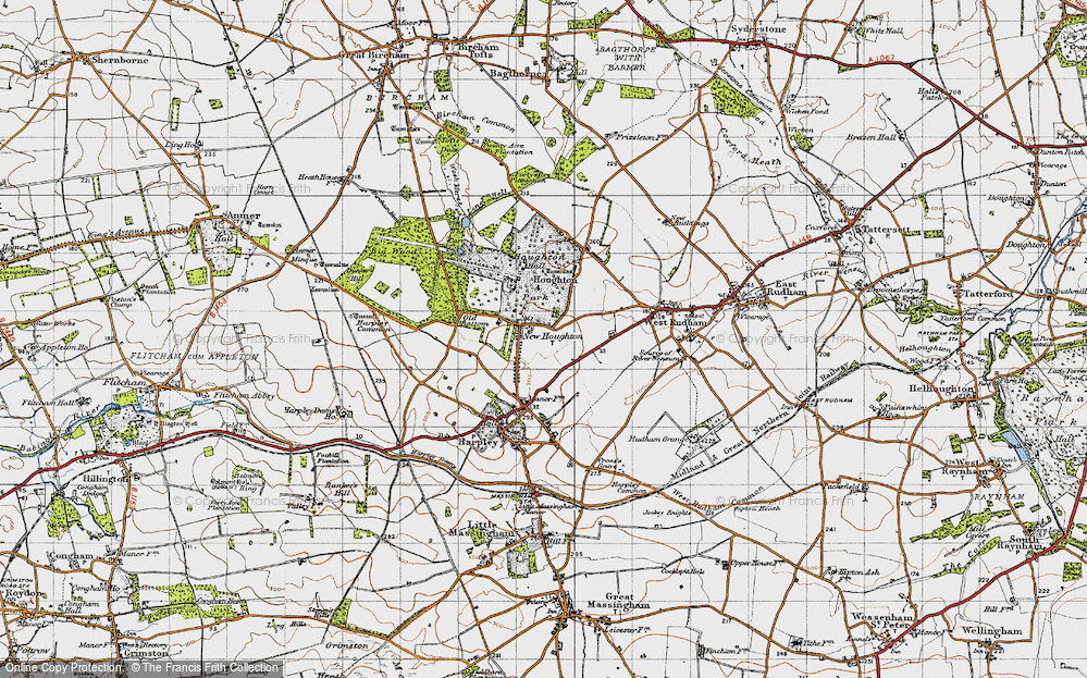 Old Map of Houghton, 1946 in 1946