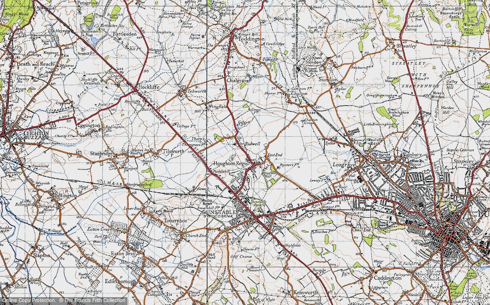 Old Map of Houghton Regis, 1946 in 1946