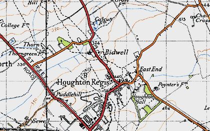 Old map of Houghton Regis in 1946