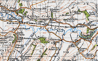 Old map of Wheat Bank in 1947