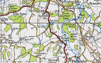 Old map of Alder Moor Copse in 1940