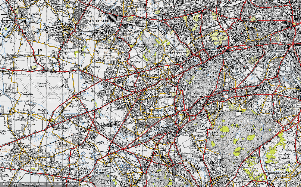 Old Map of Hounslow, 1945 in 1945