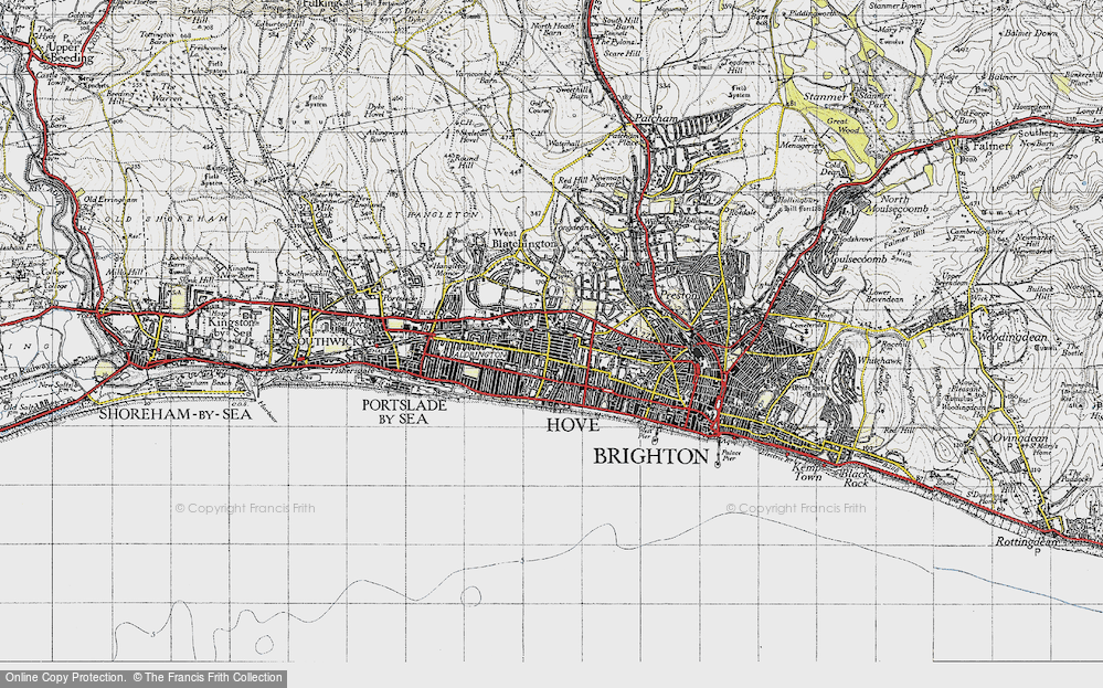 Map of Hove, 1940 - Francis Frith