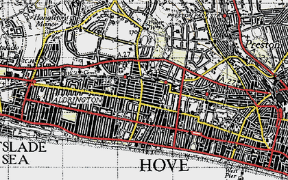 Old map of Hove in 1940