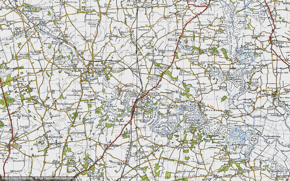 Old Map of Hoveton, 1945 in 1945