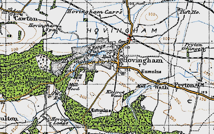 Old map of Hovingham in 1947