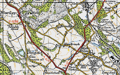 Old map of Howbrook in 1947