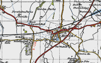 Old map of Howden in 1947