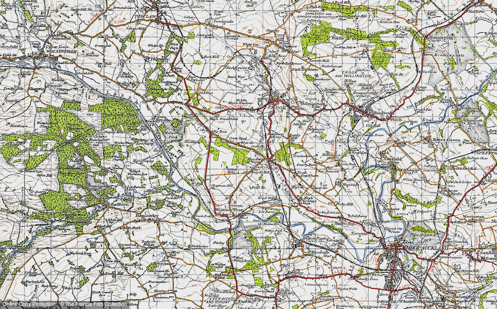 Old Map of Howden-le-Wear, 1947 in 1947