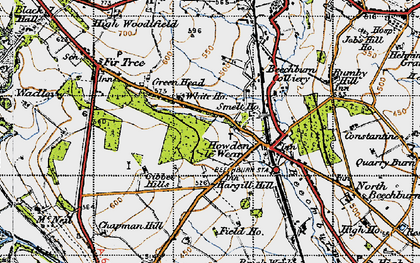Old map of Howden-le-Wear in 1947