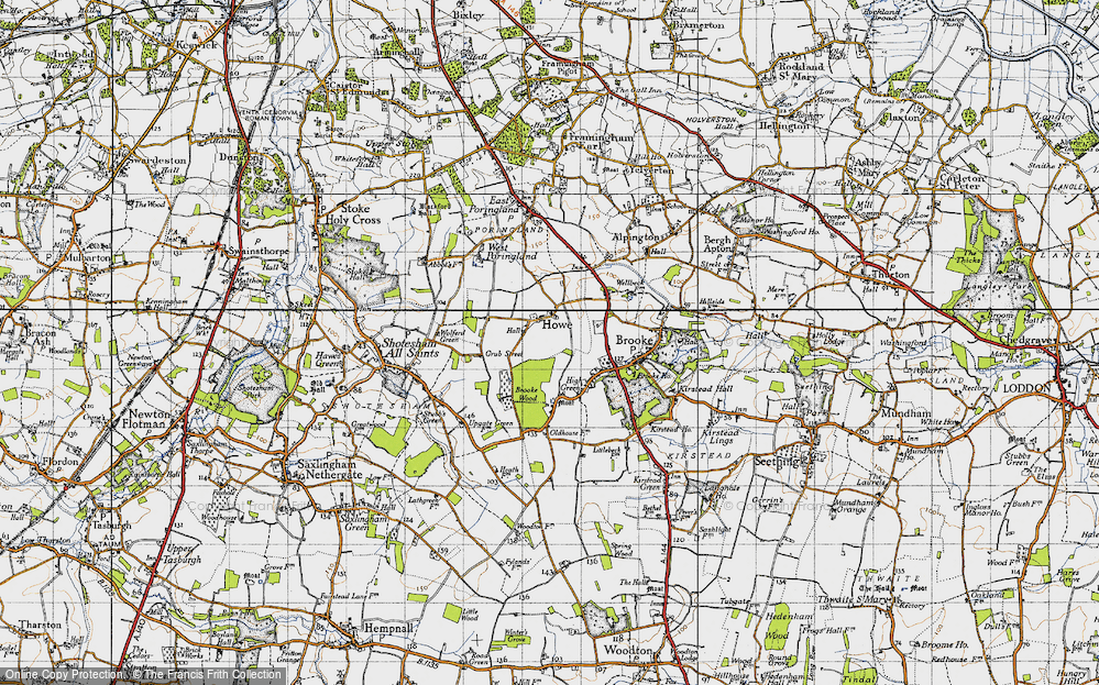 Old Map of Howe, 1946 in 1946