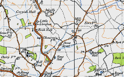 Old map of Yeldhams in 1946