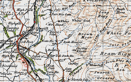 Old map of Whin's in 1947