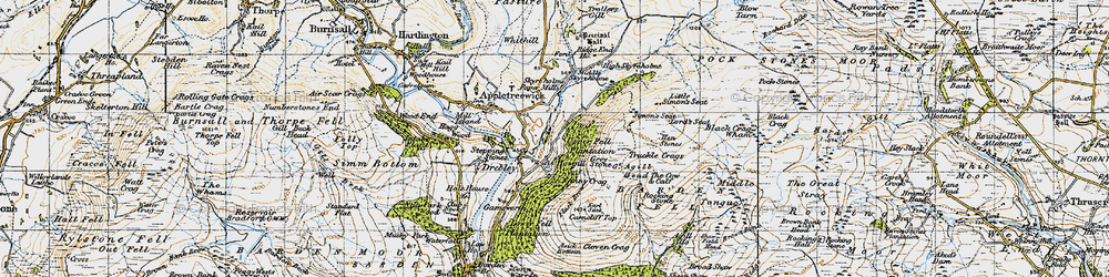 Old map of Agill Ho in 1947