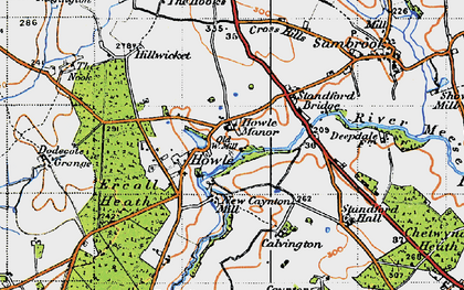 Old map of Ercall Heath in 1946
