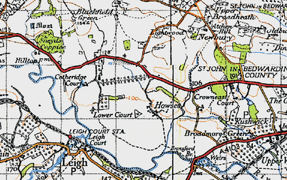 Old map of Atchen Hill in 1947