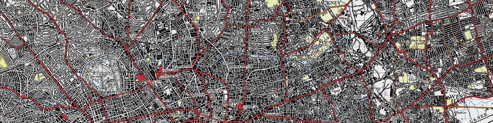 Old map of Hoxton in 1946