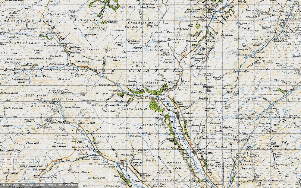 Old Map of Hubberholme, 1947 in 1947