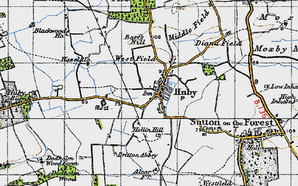 Old map of Barfs Hill in 1947