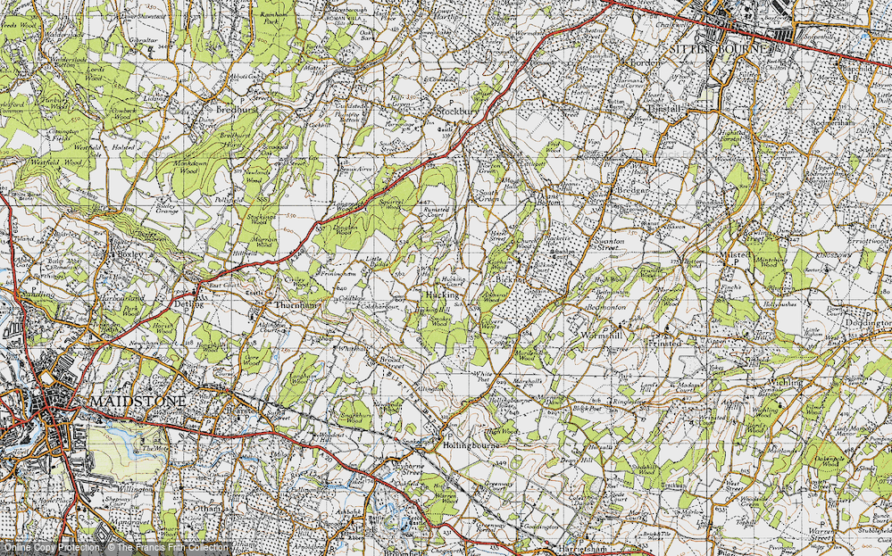 Old Map of Historic Map covering Admiral Ho in 1946