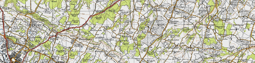 Old map of Admiral Ho in 1946