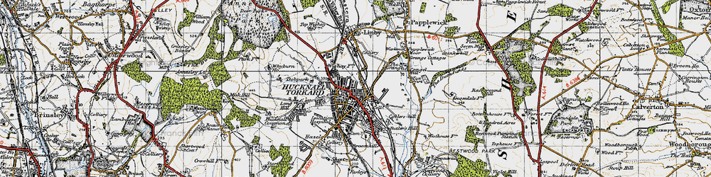 Old map of Wighay in 1946