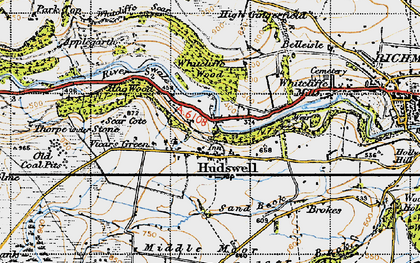 Old map of Whitcliffe Wood in 1947