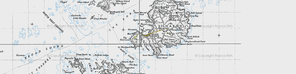 Old map of Woolpack Point in 1946