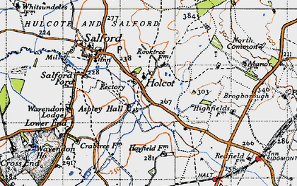 Old map of Aspley Hall in 1946