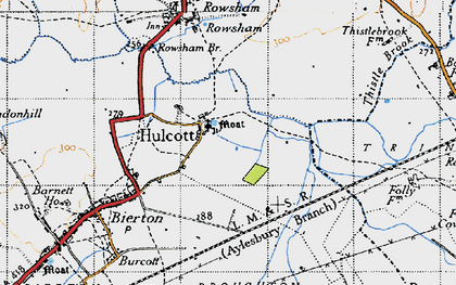Old map of Aylesbury Ring in 1946