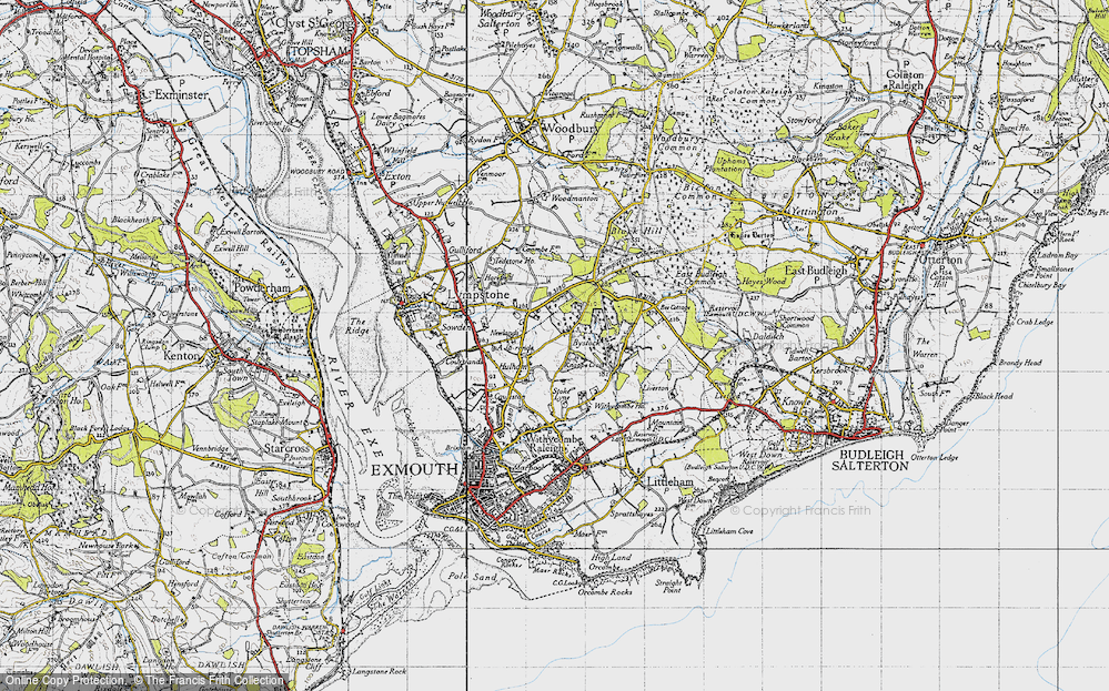 Old Map of Historic Map covering A-la-Ronde in 1946
