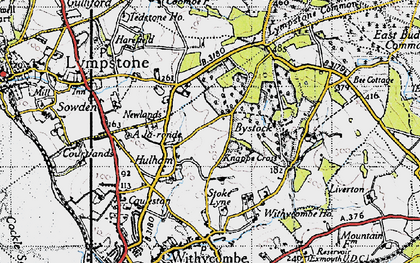 Old map of A-la-Ronde in 1946