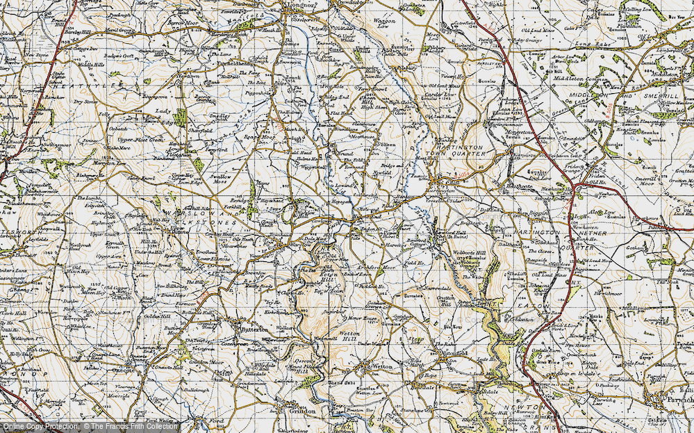 Old Map of Historic Map covering Westside Mill in 1947