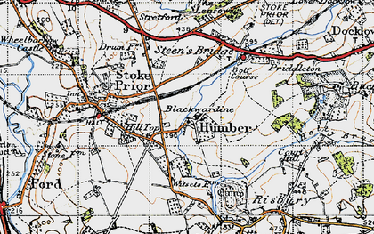 Old map of Witsetts, The in 1947