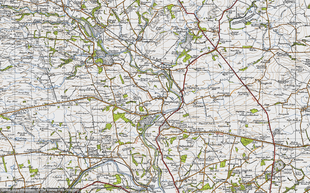 Old Map of Historic Map covering Lincoln Hill in 1947