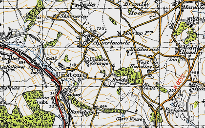 Old map of Hundall in 1947