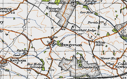 Old map of Baggrave Hall in 1946