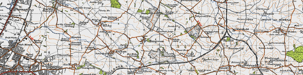 Old map of White's Barn in 1946