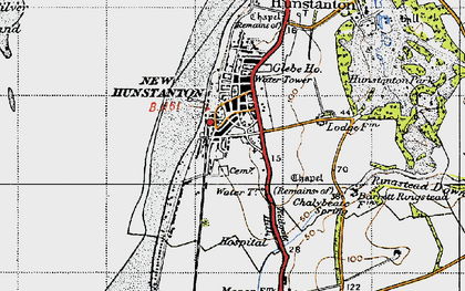 Old map of Hunstanton in 1946