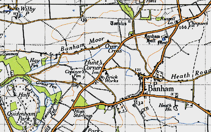 Old map of Banham Moor in 1946
