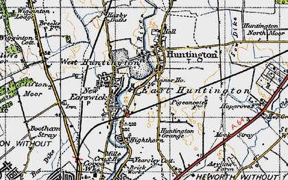 Old map of Huntington in 1947