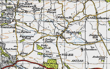Old map of Wild Wood in 1947