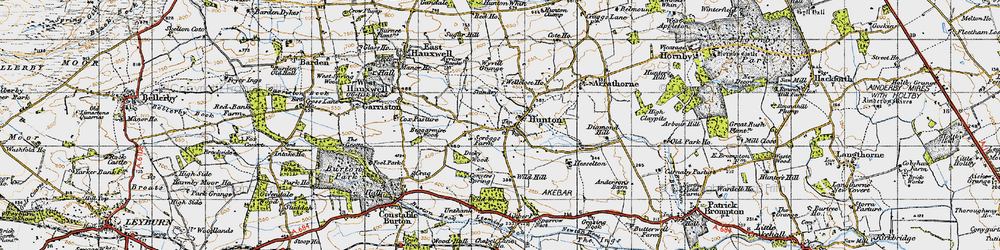 Old map of Wyvill Grange in 1947