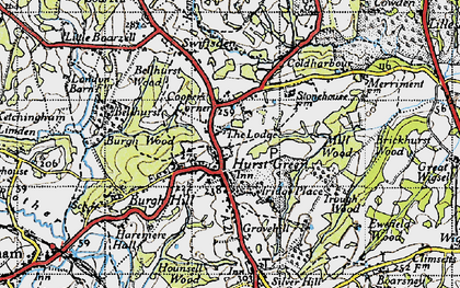 Old map of Swiftsden in 1940