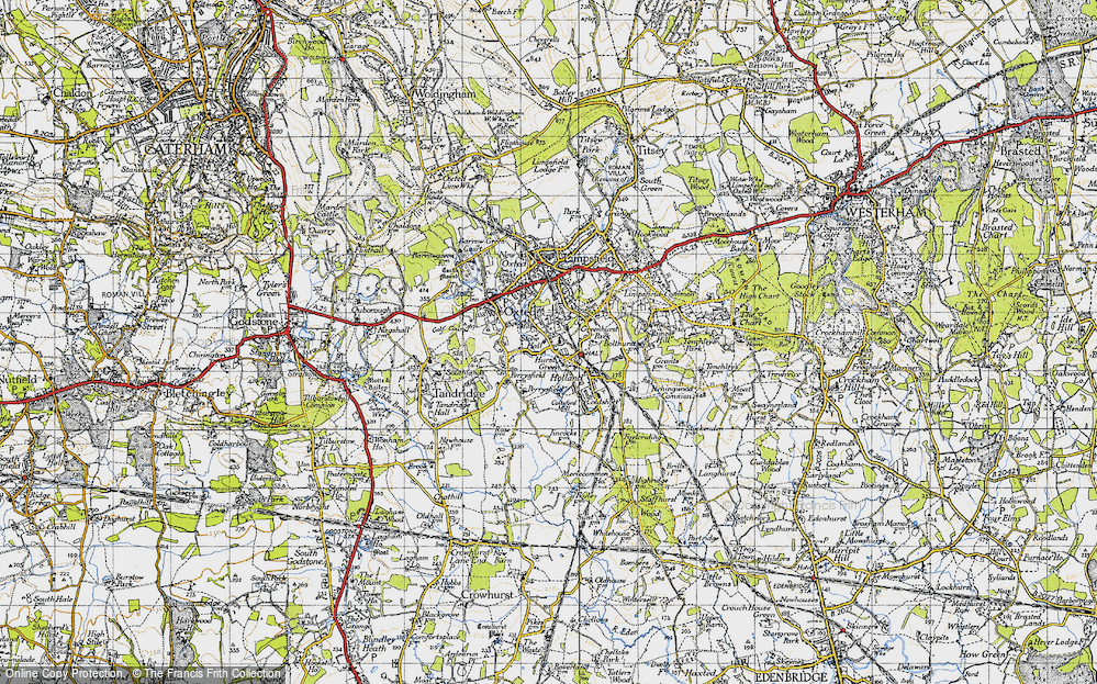 Old Map of Hurst Green, 1946 in 1946