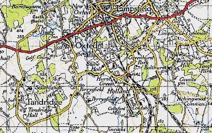 Old map of Hurst Green in 1946