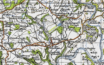 Old map of Bailey Ho in 1947