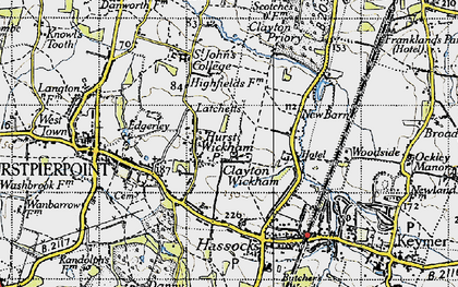 Old map of Woodside Kennels in 1940